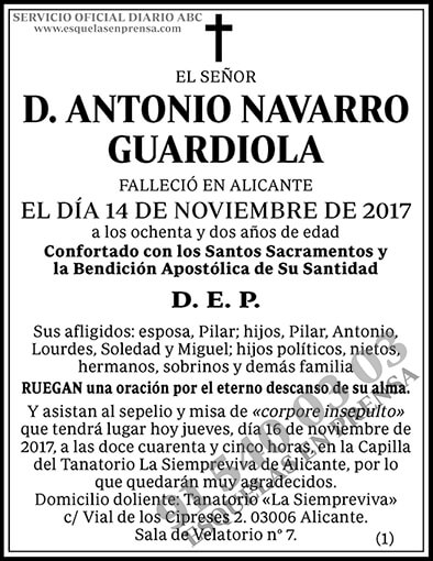 Antonio Navarro Guardiola